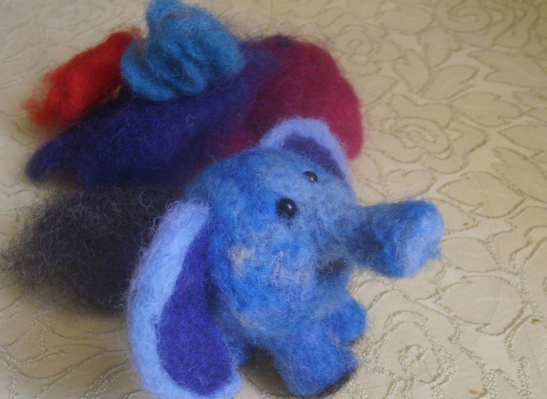 Слоник сухое валяние