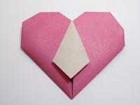 сердце оригами из бумаги своими руками