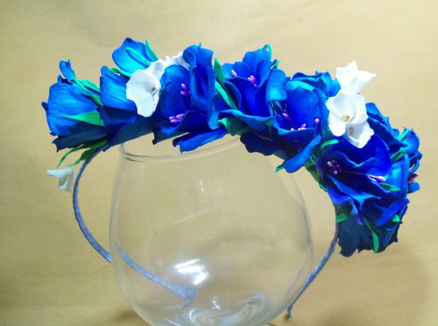 Синие цветы своими руками фото 542