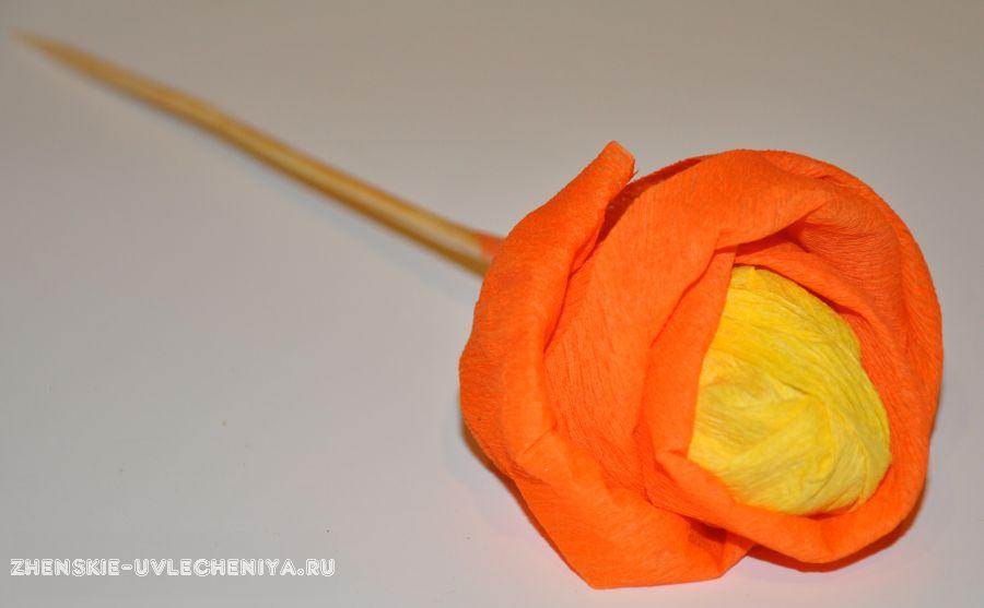 Как сделать из конфет розочку из 49