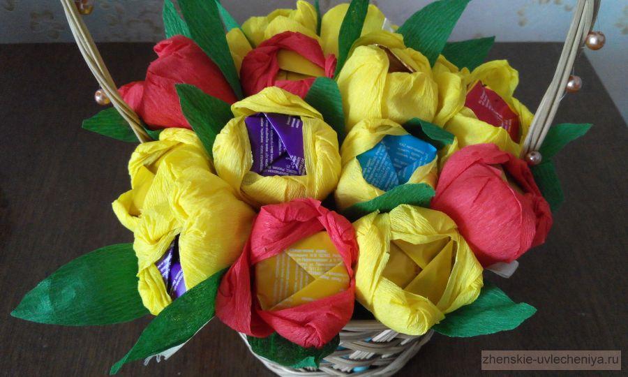 Крокусы конфет гофрированной бумаги своими руками фото 28