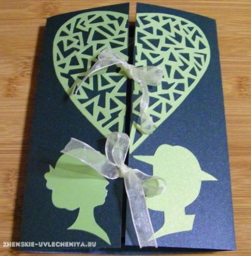 открытка на свадьбу своими руками в пошаговом мастер-классе