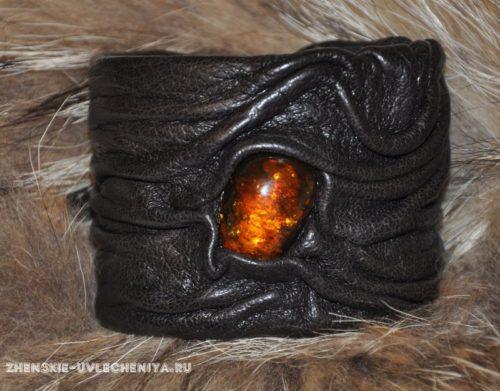 Как сделать стильный женский кожаный браслет своими руками