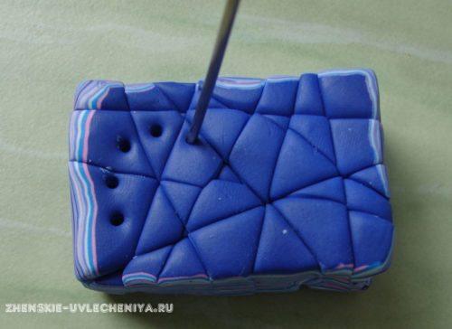 колье в технике «Мокуме Гане» из полимерной глины мстер-класс