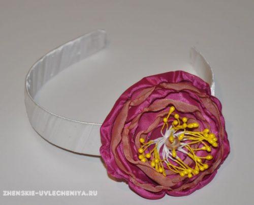 Обруч для волос с цветком
