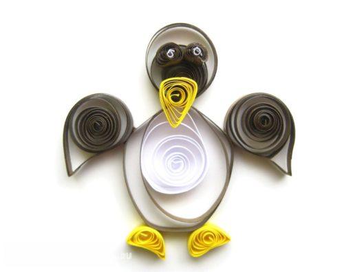 Пингвин в технике квиллинг