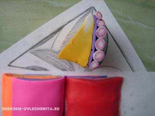 техника калейдоскоп из полимерной глины, мастер-класс