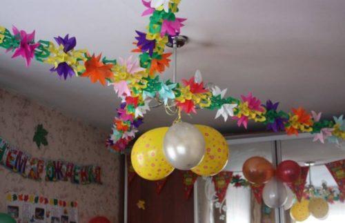 украшение шарами на 1 годик фото