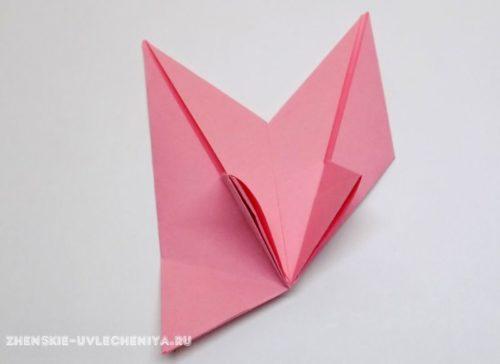 Сборка цветка модульное оригами