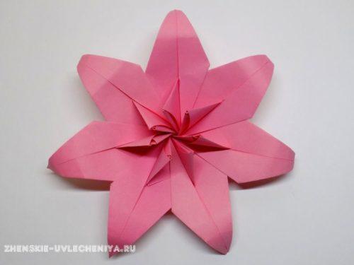 мастер-класс по сборке цветка модульное оригами