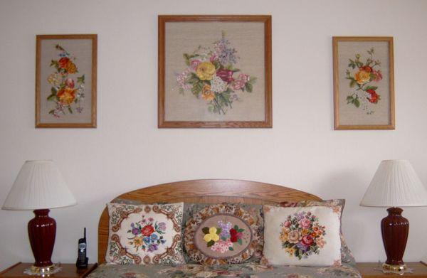Вышивка в декоре дома