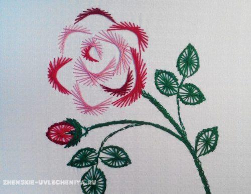 роза изонить