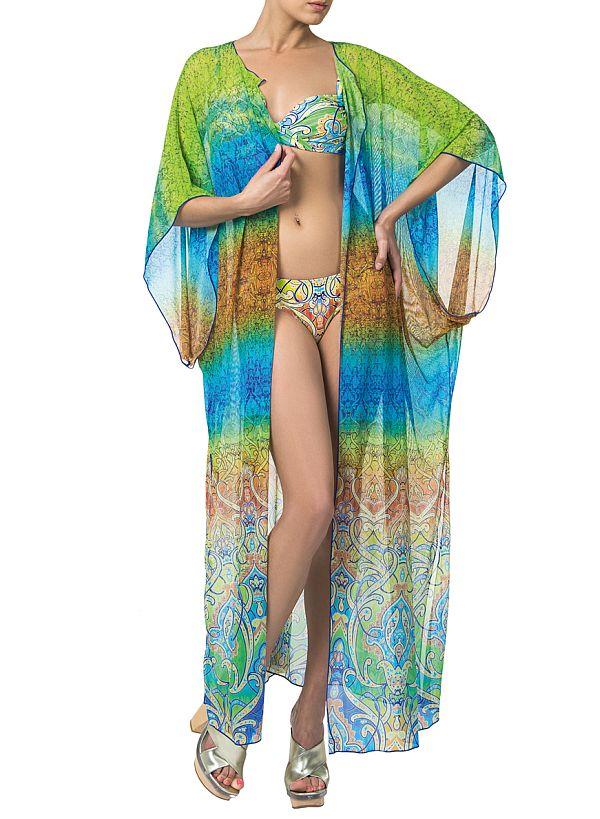 c7d21d8be619666 Прозрачные и полупрозрачные, а также кружевные, сетчатые и ажурные ткани  имеют право присутствовать в пляжных платьях для дефиле по побережью.