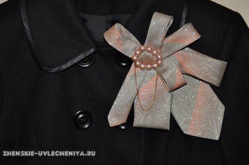украшения из мужских галстуков своими руками