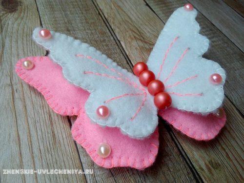 бабочка изфетра своими руками