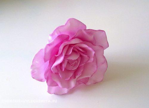 роза из фоамирана, мастер класс для начинающих