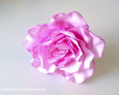 Роза из фоамирана для начинающих в мастер-классе с пошаговыми фото