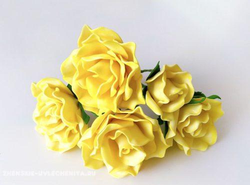 розы из фоамирана пошаговое фото
