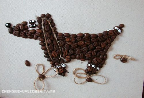 такса из кофейных зерен