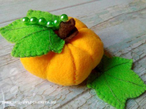 гусеница на тыковке