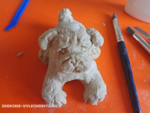 как сделать собаку из папье-маше