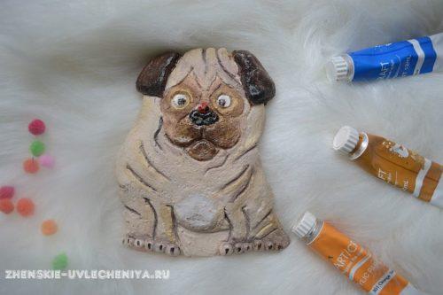 как слепить собаку из соленого теста