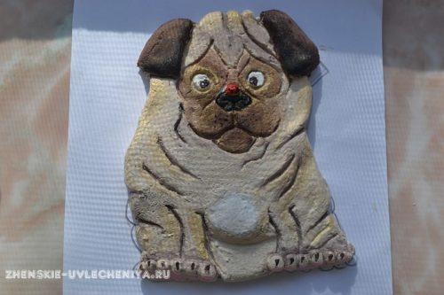 Поделка собачка из соленого теста