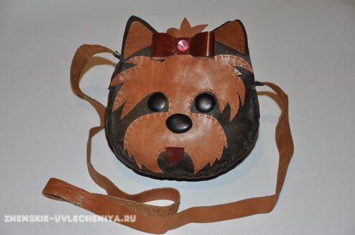 sumochka-iz-kozhi-svoimi-rukami-s-mordochkoi-sobaki-20-500x332 Изделия из кожи своими руками для начинающих