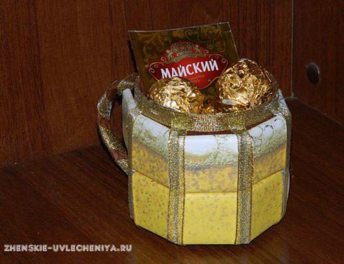 кружка из конфет для мужчины
