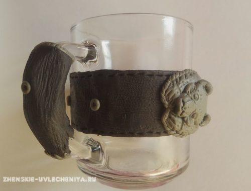 декор кружки полимерной глиной