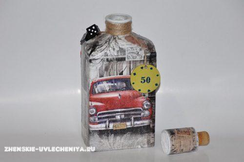 Декупаж бутылки салфетками своими руками