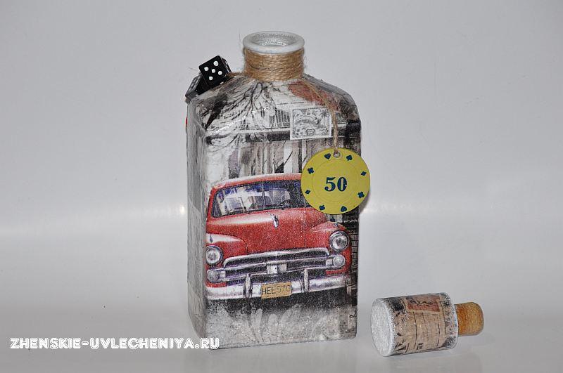 Декупаж бутылок салфетками своими руками 193