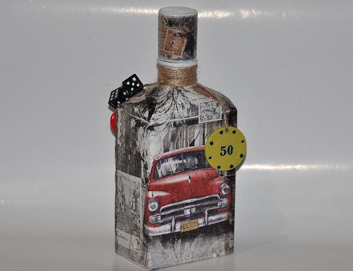 Dekupazh-butylki-salfetkami-svoimi-rukami-20 Декупаж бутылок ✂ Как сделать декупаж на бутылке, мастер-класс