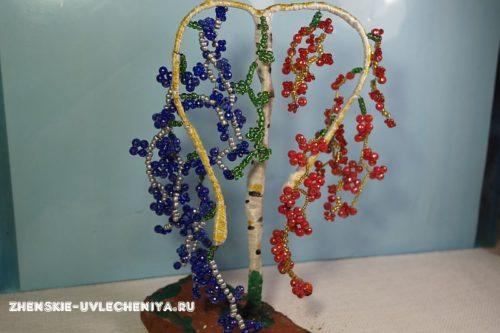 дерево из бисера для начинающих