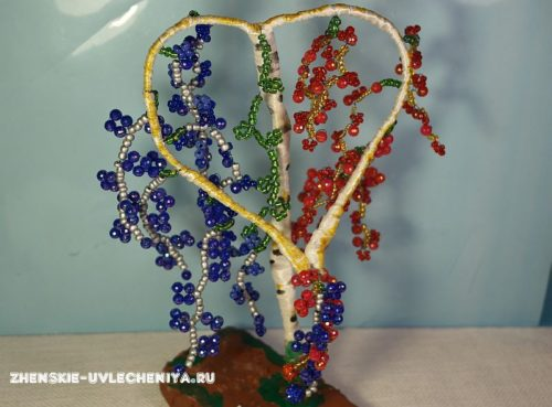 дерево сердце из бисера