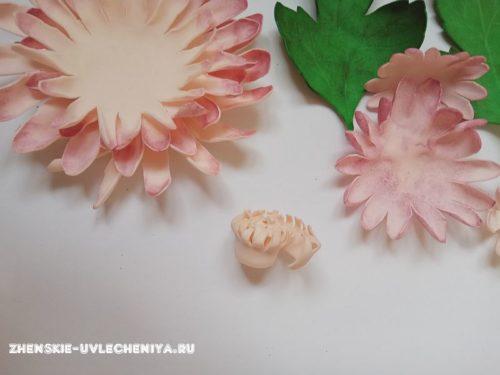 как сделать хризантему из фоамирана