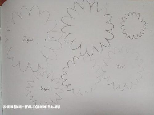 выкройка хризантемы из фоамирана