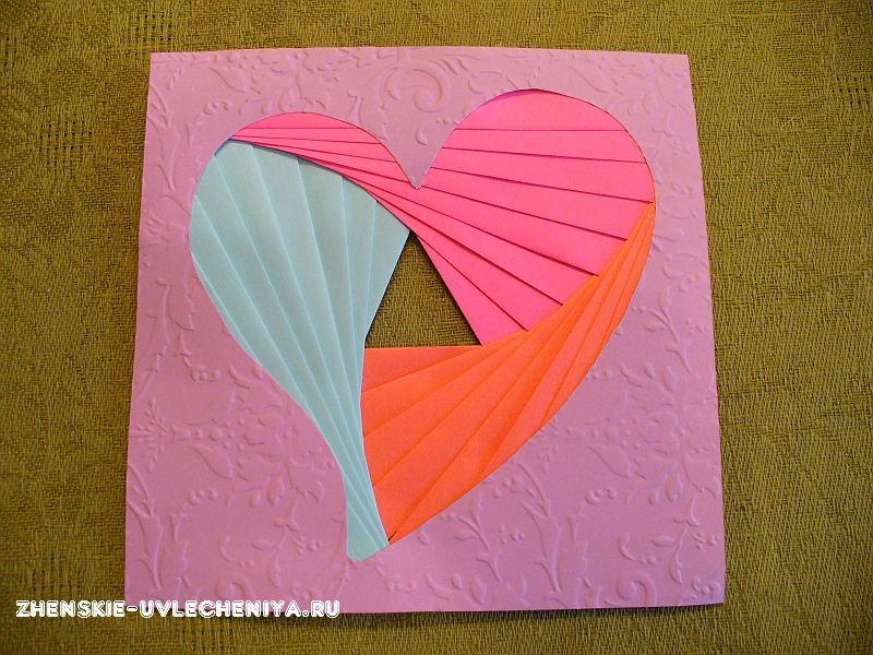 Открытка сердечко айрис фолдинг, открытки