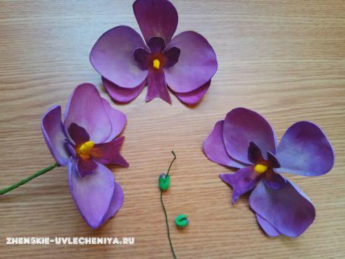 цветок орхидеи из фоамирана