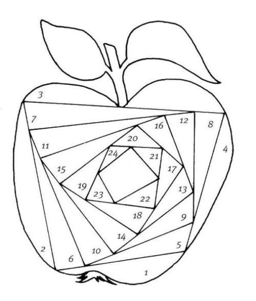 Шаблон яблоко айрис фолдинг