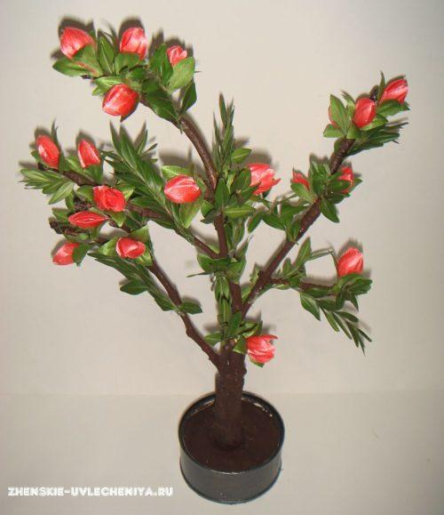 Деревце с цветами своими руками