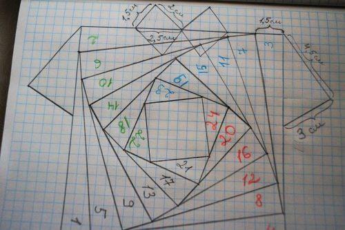 Схема рубашки айрис фолдинг