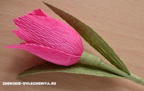 бумажный тюльпан с конфетой