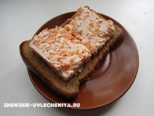 Бутерброд с домашним сыром