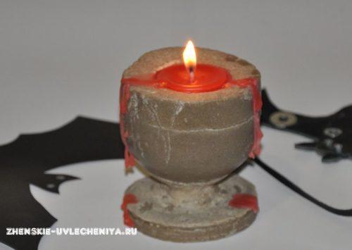 Необычная свеча в бокале