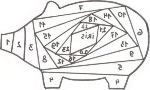 Схема айрис фолдинг свинья