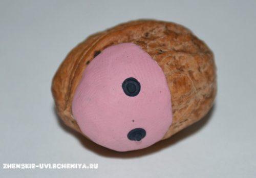 мордочка из ореха